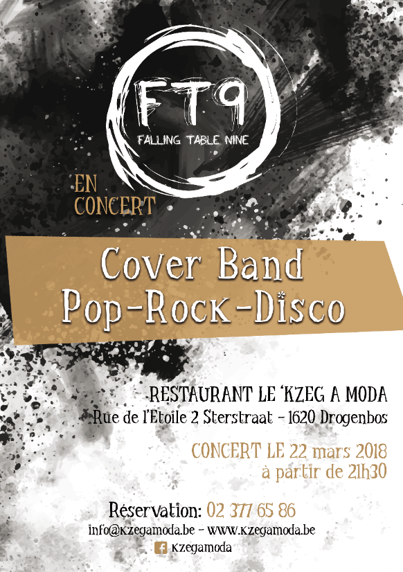 22 Mars 2018 – FT9 Falling Table Nine en concert